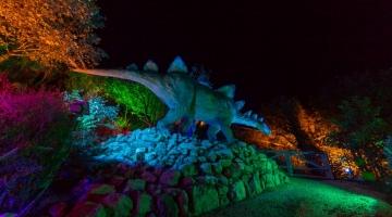 Blackgang Area 5 at night Stegosaurus