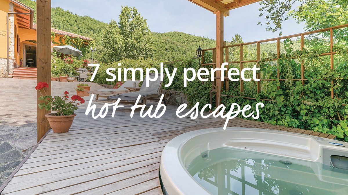 Perfect hot tub escapes