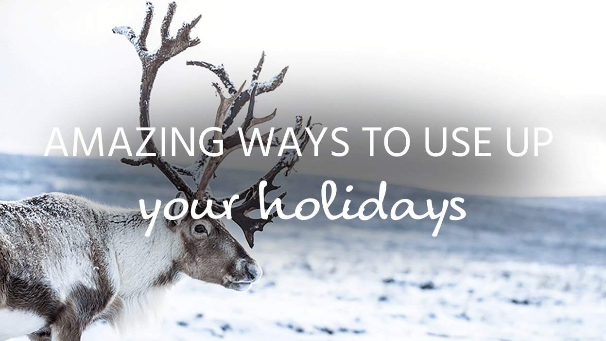Ways to use up your holidays