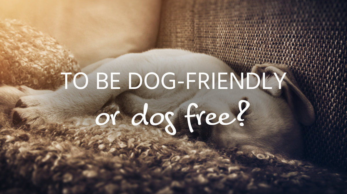 To be dog-friendly or dog free